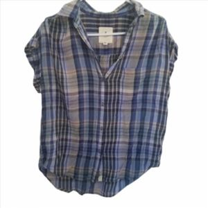 American Eagle plaid top  size S